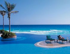 JW Marriott Cancun Resort & Spa There's a pool for every mood at this Cancun resort. For lounging: two free-form, infinity pools overlooking the Caribbean. For diving: a 20-foot-deep, PADI-certified diving pool. (JW Marriott is the only Latin American resort to have one.) And for cavorting: an adults-only pool with swim-up bar. This is, after all, Cancun