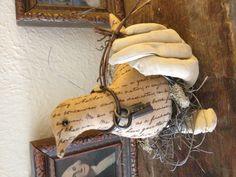 Bird in hand.  Pattern by Olde Pear Primitives.