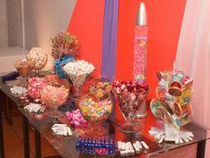 decoração mesa de aniversário guloseimas