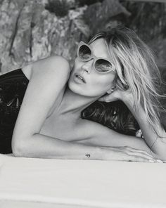 """""""Sail Away"""", Kate Moss by Patrick Demarchelier in Vogue UK #sunglasses"""