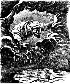 croquis de couverture finale, Le Loup des Mers,  adapté et dessiné par Riff…