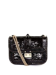 Lock sequin-embellished shoulder bag | Valentino | MATCHESFASHION.COM
