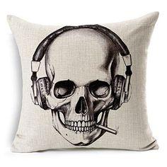 skull headphones pillow