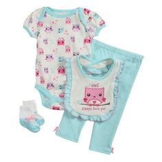 Baby Gear Newborn Girl Creeper Pantset: Shopko