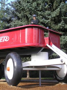 Largest Radio Flyer Wagon...Spokane, Washington, FCCLA Cluster participants will love this in November.