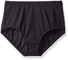 Introducing Shape Solver Womens PlusSize Tummy Control Brief Bikini Bottom  Black 20W. Get Your Ladies 2ddd88ab230a1