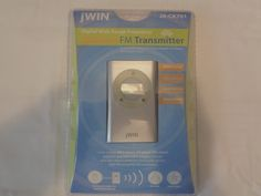 jWIN FM Transmitter Wireless Works with iPods, MP3 Players, CD Players, DVD NEW #JWIN