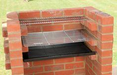 brick bbq - with warming rack
