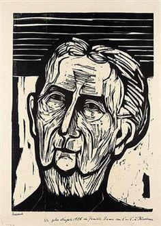 ALTE FRAU (FRAU BAUER) (D. H592) By Ernst Ludwig Kirchner