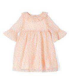 Another great find on #zulily! Blush Floral Babydoll Dress - Toddler & Girls #zulilyfinds