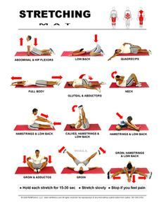 Free Printable Mat Stretching Guide for the Whole Body Includes Runners Stretches