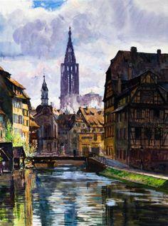 Cammissar Cathédrale de Strasbourg depuis la Petite France