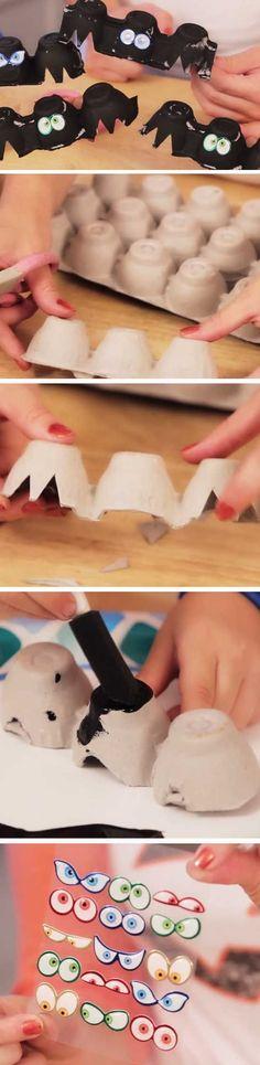 Egg Carton Bats | 20+ DIY Halloween Crafts for Kids to Make