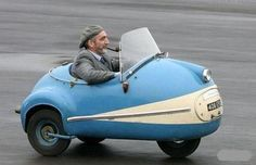 Brutsch Mopetta: Thanks to @ Stephen Wood !http://en.wikipedia.org/wiki/Br%C3%BCtsch_Mopetta    #Cars #Microcar #Brutsch_Mopetta