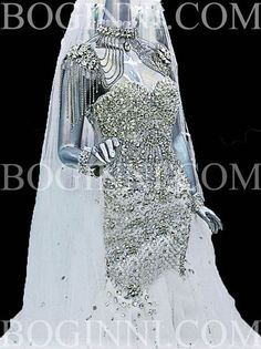 Boginni Co New Custom Made Full Crystal Murmaid Big Grand White Wedding Dress | eBay