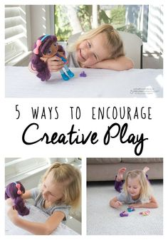 5 Ways to Encourage Creative Play - In this sponsored post, Rachel shares how she helps her daughter spend more time using her imagination while playing.