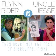 Flynn Rider vs. Uncle Jesse... Hmmm! Follow @FullHouseKid on Twitter for more #FullHouse funnies! #Tangled