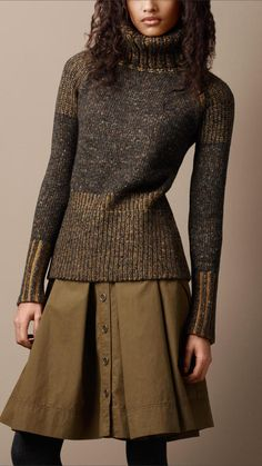 Oversize Roll Neck Sweater - Burberry