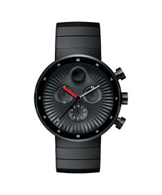 Men's Movado Edge Chronograph All Black Dial and Stainless Steel Watch Rolex Datejust, Stainless Steel Watch, Stainless Steel Bracelet, Breitling, Cartier, Omega, Black Museum, Quartz Watch, Chronograph