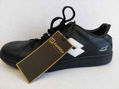 NWT Lotto Italian Sport Design Black Soccer Sneakers Tennis Shoes 10 #Lotto #AthleticSneakers