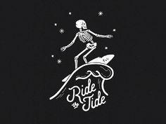 Ride the tide. Hand-drawn surfing skeleton for F Surf Tattoo, Business Cards Layout, Skeleton Art, Surf Art, Illustrations, Kids Prints, Art Sketchbook, Hang Ten, Wall Collage