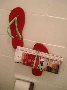 #Chinelos #transformados em #porta #revistas.;) Saiba como fazer mais coisas em http://www.comofazer.org