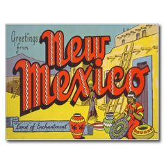 Old Photos of New Mexico | new mexico nm large letter vintage postcard greetings from new mexico ...