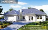 Willa parkowa 5 Mediterranean House Plans, Front Elevation, House Front, Modern House Design, Home Fashion, Villa, Patio, Mansions, House Styles