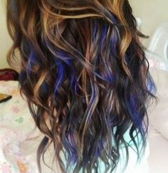 Hair dye. Love the colored tips!