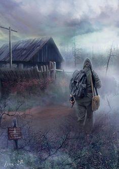 Apocalypse Landscape, Apocalypse Art, Mad Max, Fallout, Roadside Picnic, Arte Zombie, Post Apocalyptic Art, Lone Survivor, Dope Cartoon Art