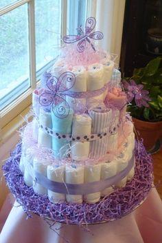 Diaper cake for Vikki