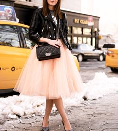 Mid-Length Skirt, Street Style Skirt,Tulle Skirt,Charming Women Skirt,spring Autumn Skirt ,A-Line Skirt
