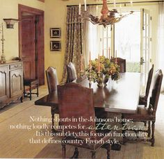 Napa Valley residence Interior Design Kendall Wilkinsin. Published Country French Decorating by Better Homes & Gardens Spring Summer 2006