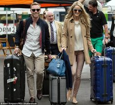 Almost time! Ronan Keating, 38, and his bride-to-be Storm Uechtritz, 34, beamed from ear-t...
