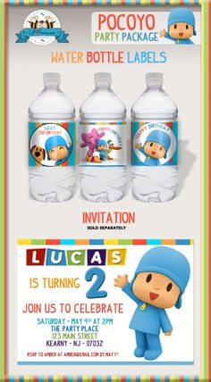 Pocoyo Birthday Party Birthday Party Printable Invitations - Pocoyo Birthday Party Printable DIY Invitation - Personalized Invite card DIY party printables will save you time and money while making your planning a snap! Happy Birthday Name, Luau Birthday, Baby Boy Birthday, Friend Birthday, Birthday Parties, Birthday Ideas, Printable Invitations, Party Printables, Friends Set