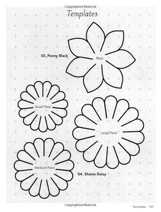 Handmade Fabric Flowers: 32 Beautiful Blooms to Make Tissue Flowers, Felt Flowers, Diy Flowers, Colorful Flowers, Fabric Flowers, Paper Flowers, Flower Petals, Flower Petal Template, Leaf Template