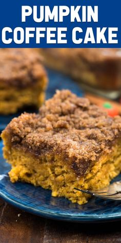 Coffee Cake is my mom's coffee cake made with pumpkin for fall breakfast. Pumpkin Coffee Cake is my mom's coffee cake made with pumpkin for fall breakfast.,Pumpkin Coffee Cake is my mom's coffee cake made with pumpkin for fall breakfast. Halloween Desserts, Fall Desserts, Just Desserts, Delicious Desserts, Dessert Recipes, Yummy Food, Pumpkin Coffee Cakes, Pumpkin Dessert, Pumkin Cake