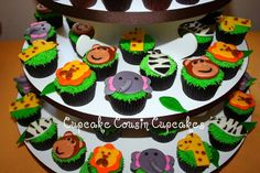 safari themed cupcakes | Jungle theme cupcakes