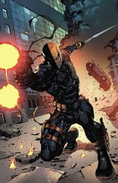 Deathstroke (aka Slade Wilson) by Heubert Khan Michael Marvel Dc Comics, Comics Anime, Comic Manga, Dc Comics Art, Dc Deathstroke, Deathstroke The Terminator, Deathstroke Cosplay, Deadshot, Comic Villains