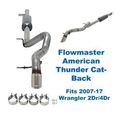 Same Business Day Shipping Flowmaster American Thunder Cat-Back 2007-17 Wrangler V6 3.6L 3.8L JK 817674