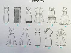 types of dresses - Google Search