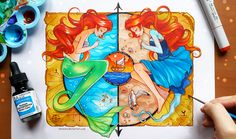 +Little Mermaid - The Land and The Sea+ by larienne on DeviantArt