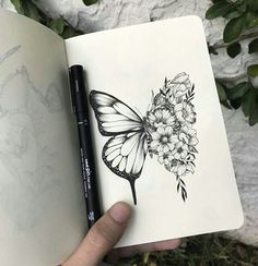 Our Website is the greatest collection of tattoos designs and artists. Find Inspirations for your next Tattoo . Search for more Butterfly Tattoo designs. Trendy Tattoos, Tattoos For Guys, Tattoos For Women, Neue Tattoos, Body Art Tattoos, Female Tattoos, Tatoos, Art Drawings Sketches, Tattoo Drawings