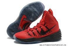 University Red Black Nike Hyperdunk 2013 XDR Black Shoes 60917290e