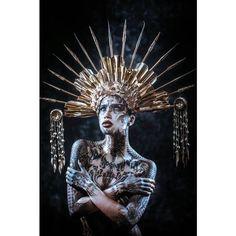 Spike Halo Headdress // Miss G Designs #missgdesigns #headdress #costume #headpiece #burningman #lighteninginabottle #electricforest