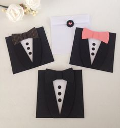 Black Tuxedo Card. Will you be my Groomsmen, Best man  card. Bow tie card via Etsy