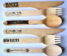 a super simple DIY ... stamped bamboo utensils