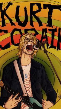 Kurt Cobain Art, Nirvana Kurt Cobain, Rock And Roll, Rock Bands, Nirvana Art, Nirvana Logo, Arte Punk, Rock Band Posters, Mode Rock