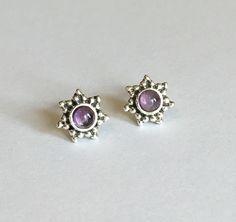 N E B U L A Amethyst Stud Earrings ✨✨ Shop www.holilove.com #Amethyst…