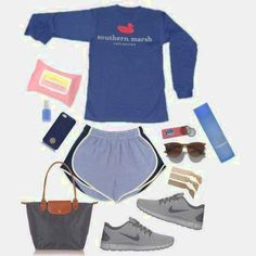 Ideas For Preppy Camping Outfits Summer Tory Burch Summer Camp Outfits, Lazy Day Outfits, College Outfits, Spring Outfits, School Outfits, Summer Clothes, Adrette Outfits, Sporty Outfits, Preppy Style